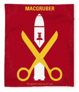 No317 My Macgruber Minimal Movie Poster Fleece Blanket