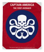 No329 My Captain America - 1 Minimal Movie Poster Fleece Blanket