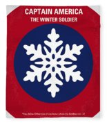 No329 My Captain America - 2 Minimal Movie Poster Fleece Blanket