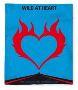 No337 My Wild At Heart Minimal Movie Poster Fleece Blanket
