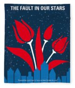 No340 My The Fault In Our Stars Minimal Movie Poster Fleece Blanket