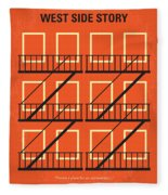No387 My West Side Story Minimal Movie Poster Fleece Blanket