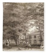 No.3933.f8 View Of The Stables On Lord Fleece Blanket