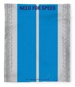 No407 My Need For Speed Minimal Movie Poster Fleece Blanket