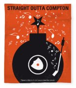 No422 My Straight Outta Compton Minimal Movie Poster Fleece Blanket