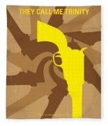 No431 My They Call Me Trinity Minimal Movie Poster Fleece Blanket