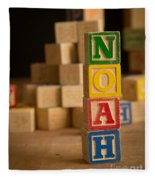 Noah - Alphabet Blocks Fleece Blanket