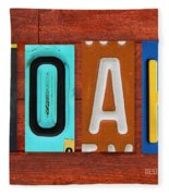Noah License Plate Name Sign Fun Kid Room Decor. Fleece Blanket