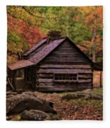 Noah Ogle Place In The Smoky Mountains Fleece Blanket