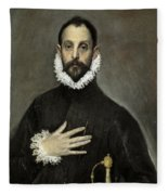 Nobleman With His Hand On His Chest Fleece Blanket