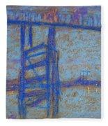 Nocturne. Battersea Bridge Fleece Blanket