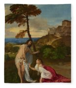 Noli Me Tangere Fleece Blanket