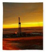 Nomac Drilling Keene North Dakota Fleece Blanket