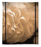 Non-stop Begonia Triptych Fleece Blanket