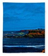 Nor Cal Seascape Fleece Blanket