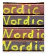 Nordic Rusty Steel Fleece Blanket