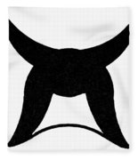 Nordic Symbol Horns Fleece Blanket