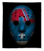 Nordiques Jersey Mask Fleece Blanket
