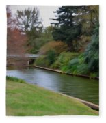 Norfolk Botanical Gardens Canal 3 Fleece Blanket