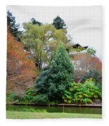 Norfolk Botanical Gardens Canal 9 Fleece Blanket