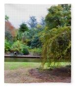 Norfolk Botanical Gardens Canal Fleece Blanket