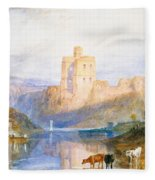 Norham Castle An Illustration To Marmion By Sir Walter Scott Fleece Blanket