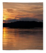 Norris Lake Sunrise Fleece Blanket