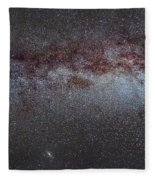 North America Nebula The Milky Way From Cygnus To Perseus And Andromeda Galaxy Fleece Blanket