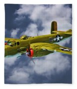 North American B-25j Fleece Blanket