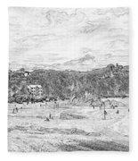 North Beach Tenby Fleece Blanket