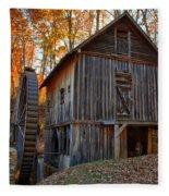 North Carolina Grist Mill Photo Fleece Blanket