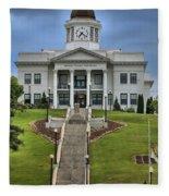 North Carolina Jackson County Courthouse Fleece Blanket
