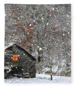 North Carolina Quilt Barn Fleece Blanket