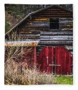 North Carolina Red Door Barn Fleece Blanket