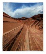 North Coyote Buttes Lines In The Desert Fleece Blanket
