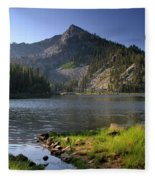 North Face Of Jughandle Mountain Fleece Blanket