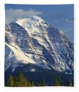 1m3549-north Face Of Mt. Temple Fleece Blanket