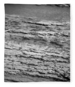 North Fork Of The Flathead River Montana Bw Fleece Blanket