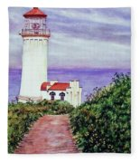 North Head Light House On The Washington Coast Fleece Blanket