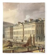 North Parade, From Bath Illustrated Fleece Blanket