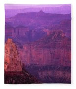 North Rim Grand Canyon Fleece Blanket
