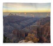North Rim Sunrise Panorama 2 - Grand Canyon National Park - Arizona Fleece Blanket