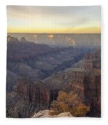 North Rim Sunrise Panorama 2 - Grand Canyon National Park - Arizona Fleece Blanket