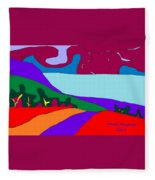 North Saanich Field And Inlet Fleece Blanket