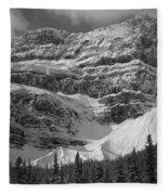 1m3536-bw-north Side Crowfoot Mountain  Fleece Blanket