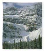 1m3536-north Side Of Crowfoot Mountain Fleece Blanket