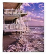 North Topsail Beach Tides That Tell Fleece Blanket