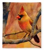 Northern Cardinal II Fleece Blanket