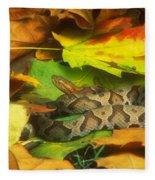 Northern Copperhead Camouflaged Fleece Blanket