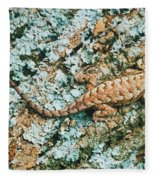 Northern Fence Lizard Fleece Blanket